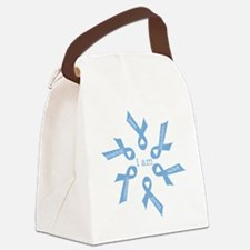 i am ... strong - light blue ribb Canvas Lunch Bag