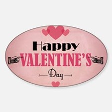 Retro Pink Valentine's Day with Hea Decal