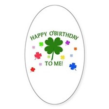 Happy O'Birthday to Me Decal