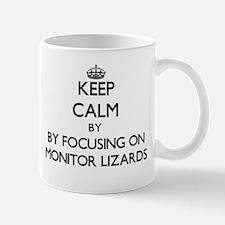 Keep calm by focusing on Monitor Lizards Mugs