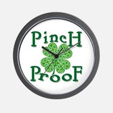 PINCH PROOF St. Patrick's Day Wall Clock
