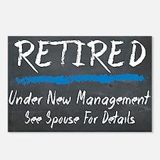 Chalkboard Retired Under New Management Postcards