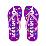 Personalized gymnast Flip Flops