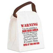 Red neck Area  Canvas Lunch Bag