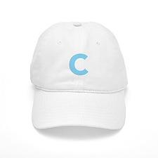 Letter C Light Blue Baseball Baseball Cap