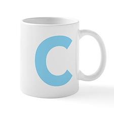 Letter C Light Blue Mugs