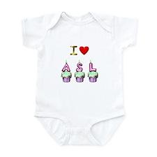 I Love ASL & Cupcakes! Infant Bodysuit