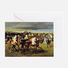 Degas - At the Races, The Start Greeting Card
