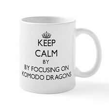 Keep calm by focusing on Komodo Dragons Mugs