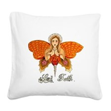 lost faith by crazy wings Square Canvas Pillow