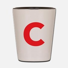 Letter C Red Shot Glass