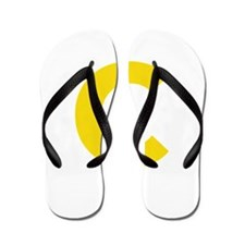 Letter C Yellow Flip Flops
