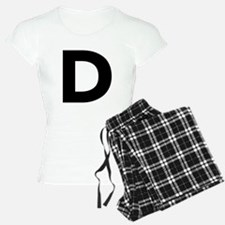 Letter D Black Pajamas