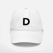 Letter D Black Baseball Baseball Baseball Cap
