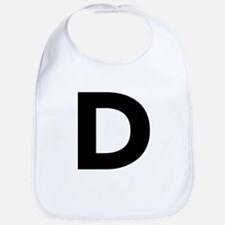 Letter D Black Bib
