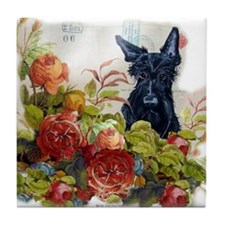 Vintage Scottish Terrier Tile Coaster