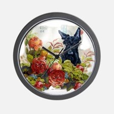 Vintage Scottish Terrier Wall Clock