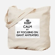 Keep calm by focusing on Giant Anteaters Tote Bag