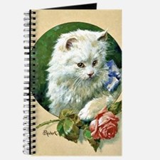 Cat and Rose - Vintage artwork by Carl Rei Journal
