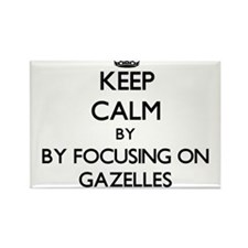 Keep calm by focusing on Gazelles Magnets