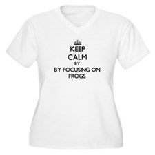 Keep calm by focusing on Frogs Plus Size T-Shirt
