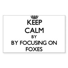 Keep calm by focusing on Foxes Decal