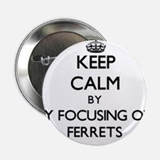 """Keep calm by focusing on Ferrets 2.25"""" Button"""