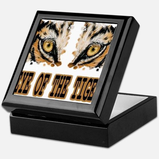 Eye Of The Tiger Keepsake Box