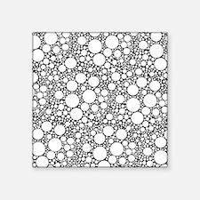 """Bubbles on Black Square Sticker 3"""" x 3"""""""