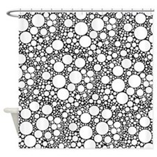 Bubbles on Black Shower Curtain