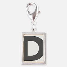 Letter D Dark Gray Charms
