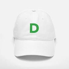 Letter D Green Baseball Baseball Baseball Cap