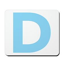 Letter D Light Blue Mousepad