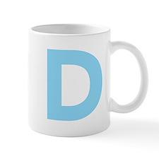 Letter D Light Blue Mugs