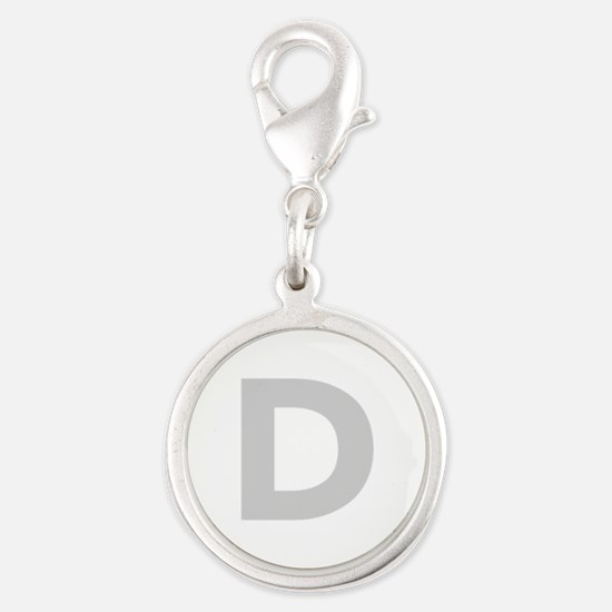 Letter D Light Gray Charms