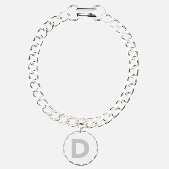 Letter D Light Gray Bracelet