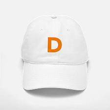 Letter D in orange. Baseball Baseball Baseball Cap