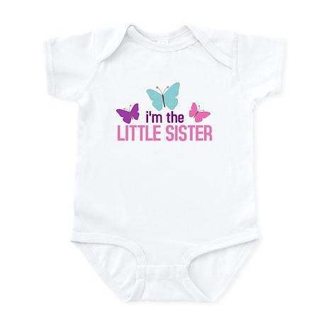 i'm the little sister butterfly Infant Bodysuit