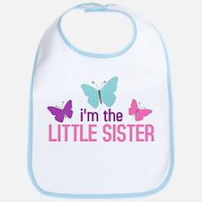 i'm the little sister butterfly Bib