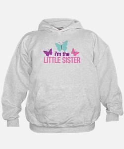 i'm the little sister butterfly Hoodie