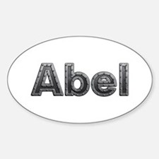 Abel Metal Oval Decal