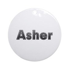 Asher Metal Round Ornament