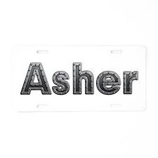 Asher Metal Aluminum License Plate