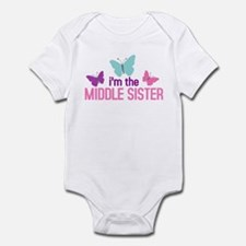 i'm the middle sister butterfly Infant Bodysuit