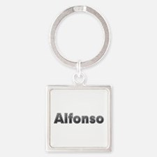 Alfonso Metal Square Keychain
