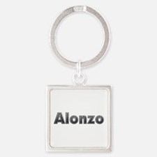 Alonzo Metal Square Keychain