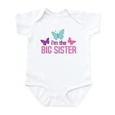 i'm the big sister butterfly Infant Bodysuit
