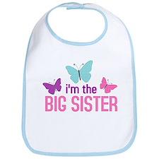i'm the big sister butterfly Bib