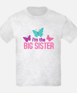 i'm the big sister butterfly T-Shirt