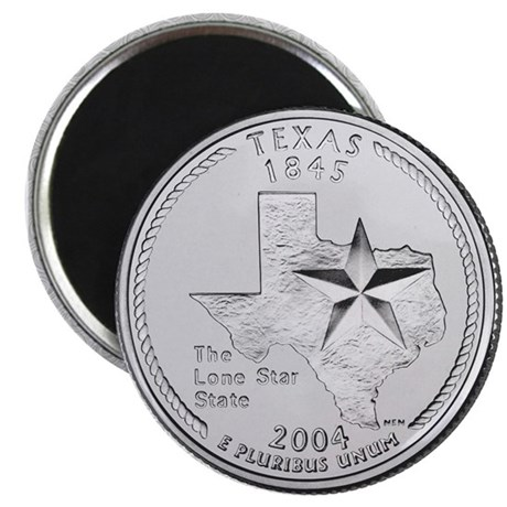 Texas State Quarter Magnet